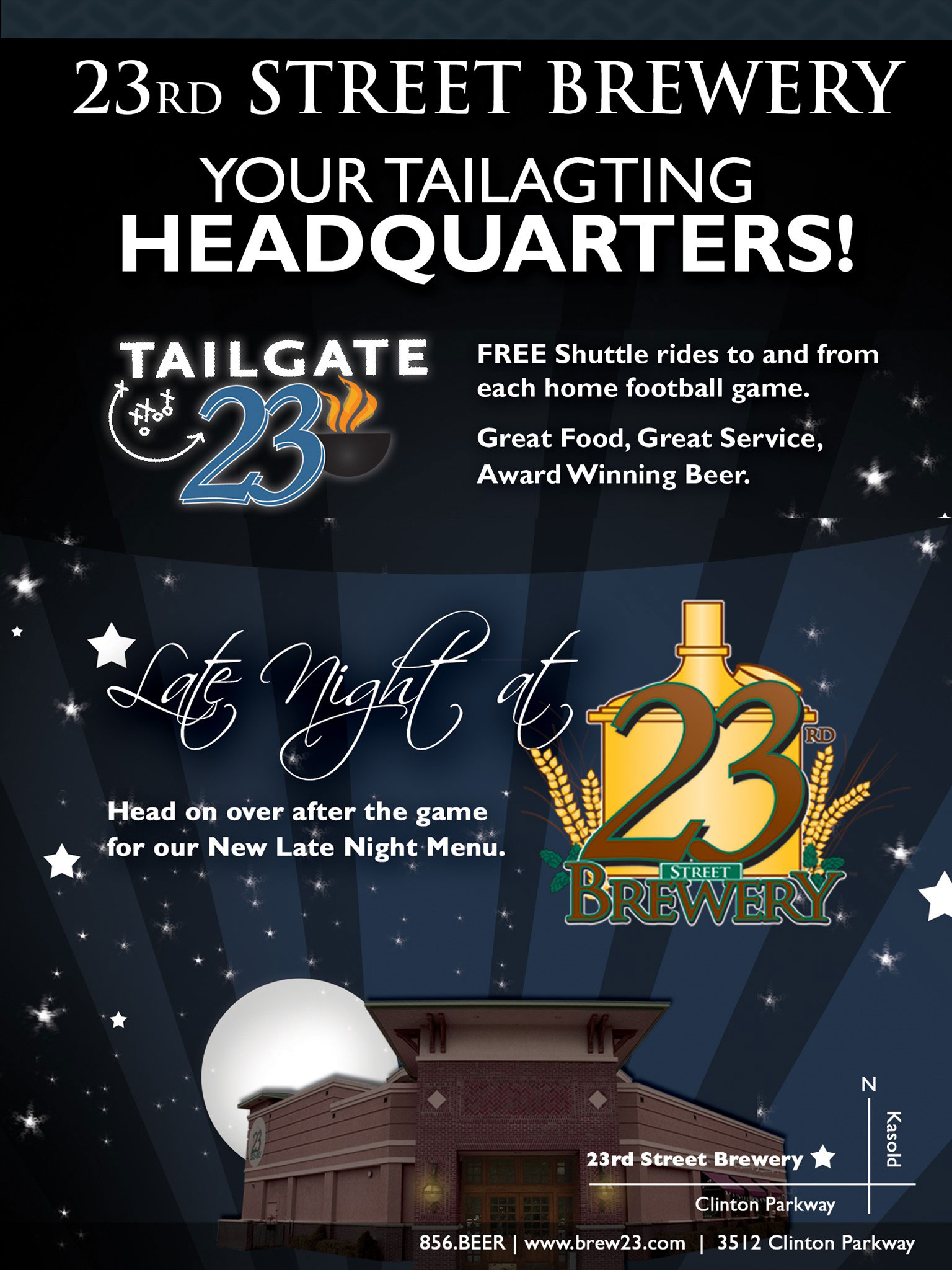 23rd Street Brewery Catering Ad