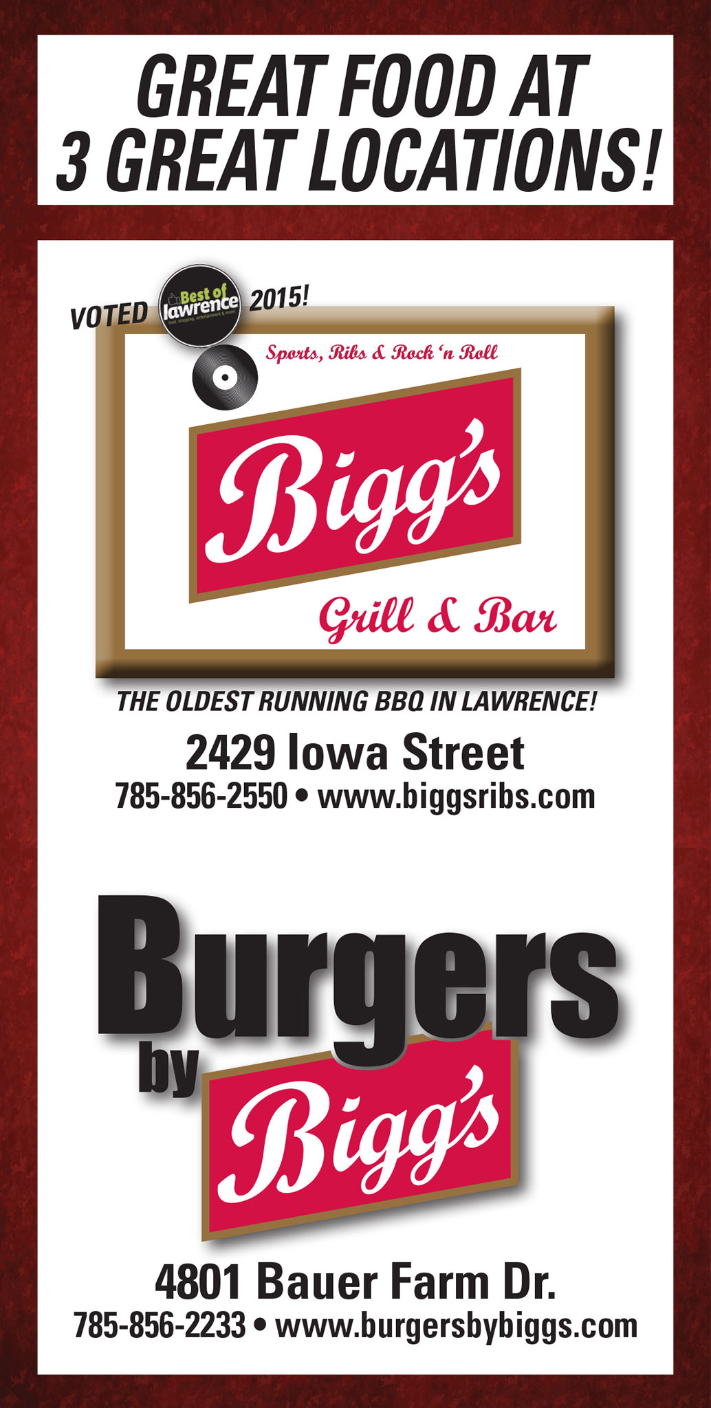 Biggs Catering Ad