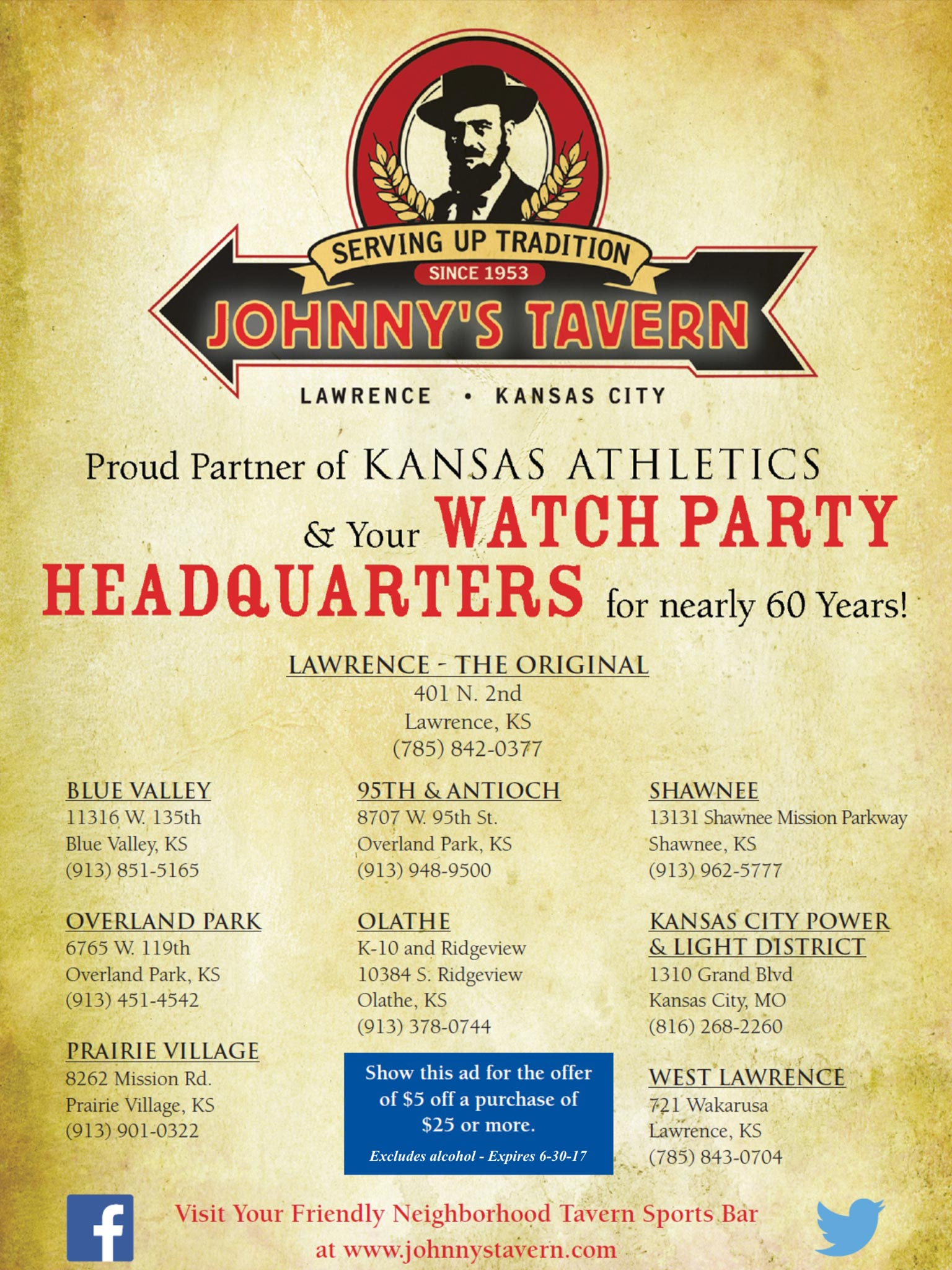 Johnny's Tavern Ad